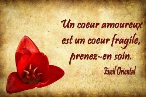 Un coeur amoureux est un coeur fragile eveil oriental - Un coeur amoureux ...