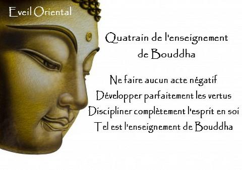 Le quatrain de l'enseignement de Bouddha
