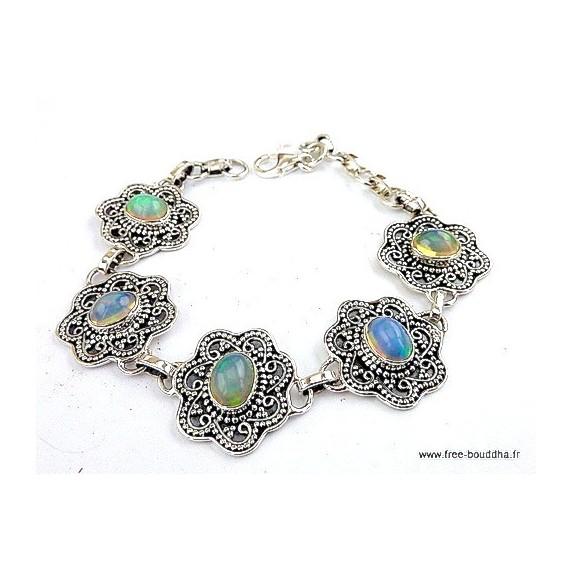 bracelet-argent-5-opales-ethiopiennes
